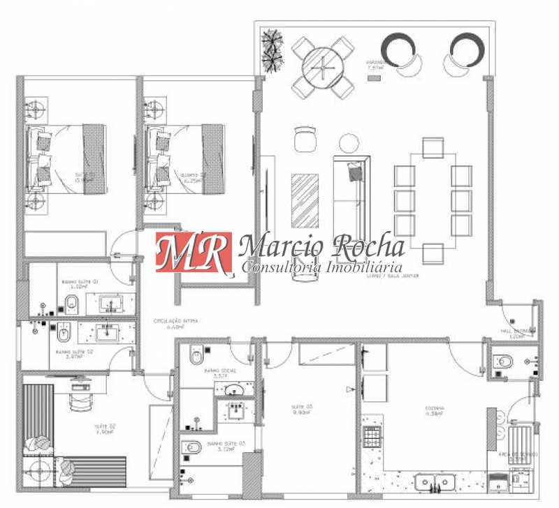 fotos-20 - Lagoa Zona Sul, Luxo, Apartamento de 4 quartos 3 suítes 1vg - VLAP40013 - 20
