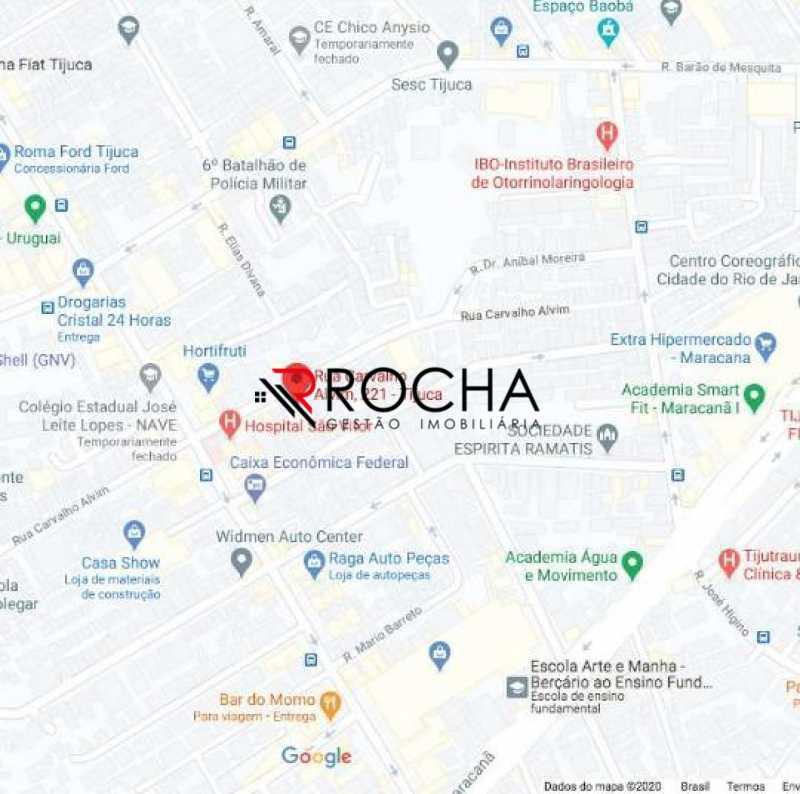Mapa região - Apartamento com Área Privativa 3 quartos à venda Tijuca, Rio de Janeiro - R$ 869.000 - VLAA30001 - 8