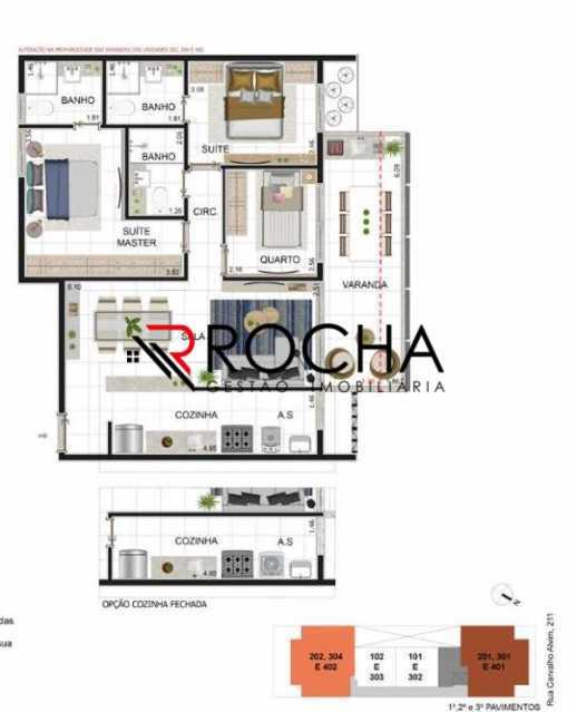 Planta - Apartamento com Área Privativa 3 quartos à venda Tijuca, Rio de Janeiro - R$ 869.000 - VLAA30001 - 6