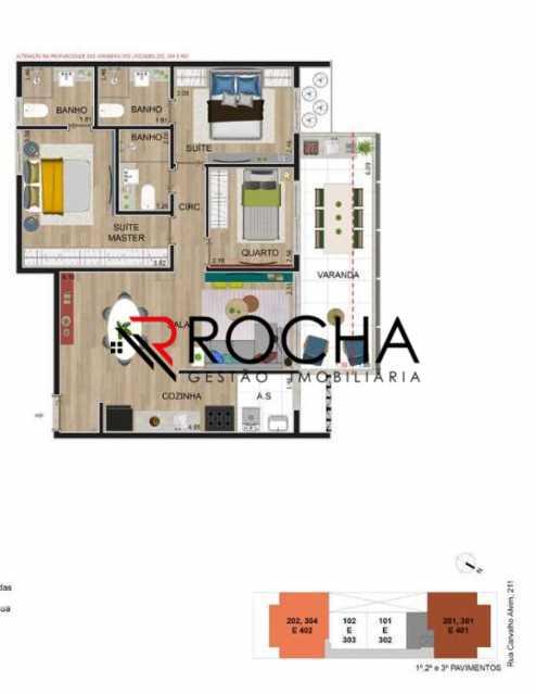 Planta - Apartamento com Área Privativa 3 quartos à venda Tijuca, Rio de Janeiro - R$ 869.000 - VLAA30001 - 5