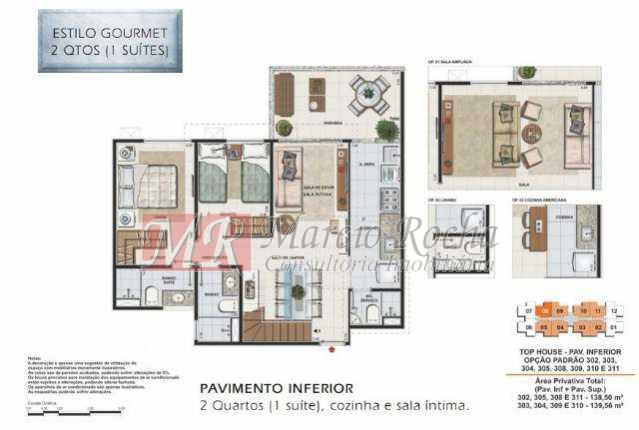 7 - Recreio, Cobertura Duplex, 3 Qts, Suíte, 2vgs, terraço - VLCO30005 - 18