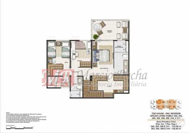13 - Recreio, Cobertura Duplex, 3 Qts, Suíte, 2vgs, terraço - VLCO30005 - 21