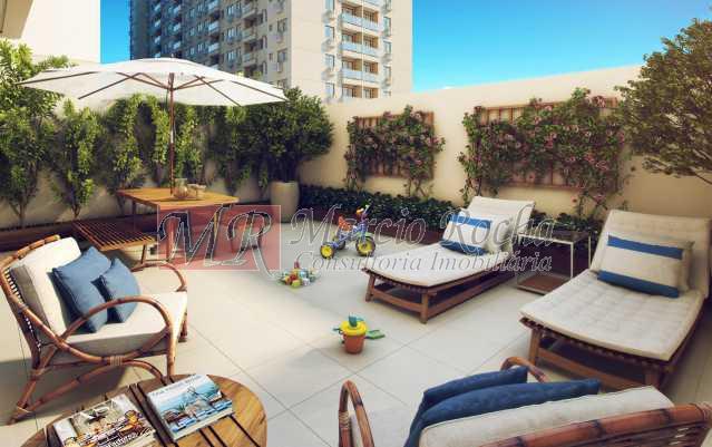 20_terraco_privativo - Nobre Norte Clube Residencial apto de 2 e 3 quartos com suíte varanda 1vg e lazer consultem-nos tabela de preços entrega 2017 - VLAP20015 - 13