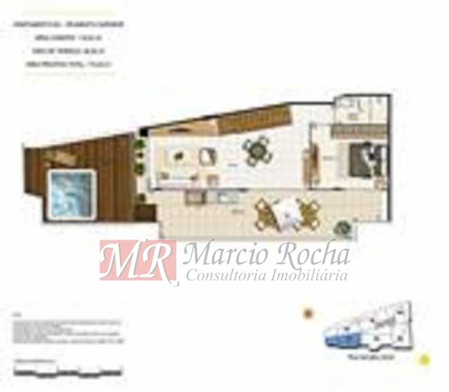 p8 - ijuca Royalle, empreendimento de luxo novo, ótima localização sendo na rua Carvalho Alvim, cobertura de 3 quartos com 187m2. - VLAP30009 - 20