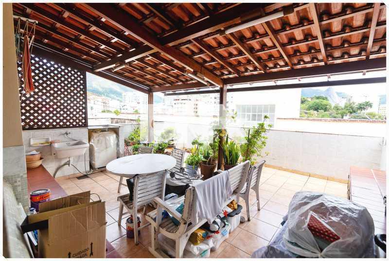 terraço com cobertura - Apartamento à venda Rua Barão de Mesquita,Tijuca, Rio de Janeiro - R$ 380.000 - FA10150 - 12