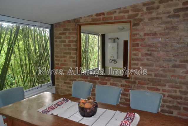 11.sala de jantar e área - Casa à venda Rua Icatu,Botafogo, Rio de Janeiro - R$ 3.130.000 - NBCA40006 - 12