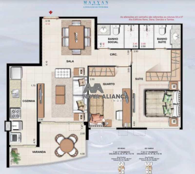 1016-danubio mayan - aurelio - Apartamento 2 quartos à venda Jacarepaguá, Rio de Janeiro - R$ 560.000 - NIAP20819 - 24