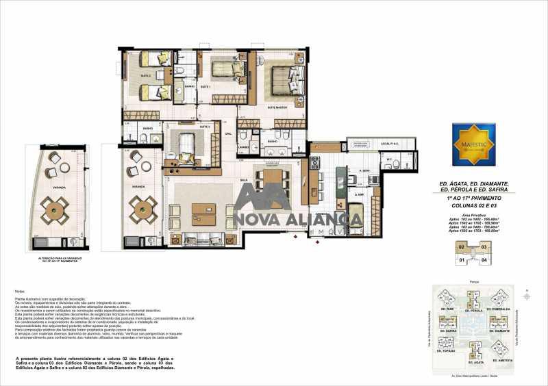 06-TIPO-BLOCO IMPAR-COLUNA 02 - Apartamento à venda Avenida Presidente Jose de Alencar,Jacarepaguá, Rio de Janeiro - R$ 1.400.000 - NIAP40361 - 19