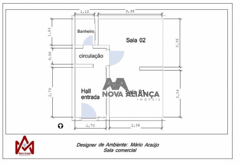 planta - Sala Comercial 30m² à venda Avenida Afrânio de Melo Franco,Leblon, Rio de Janeiro - R$ 1.050.000 - NISL00075 - 31