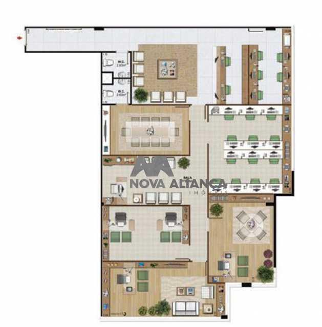 planta 201 - Sala Comercial 184m² à venda Avenida Embaixador Abelardo Bueno,Barra da Tijuca, Rio de Janeiro - R$ 1.626.592 - NISL00084 - 27