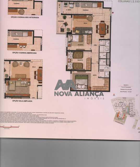 Ap 3Q Disposicao 002 - Apartamento à venda Rua Piauí,Todos os Santos, Rio de Janeiro - R$ 540.000 - NBAP31289 - 1