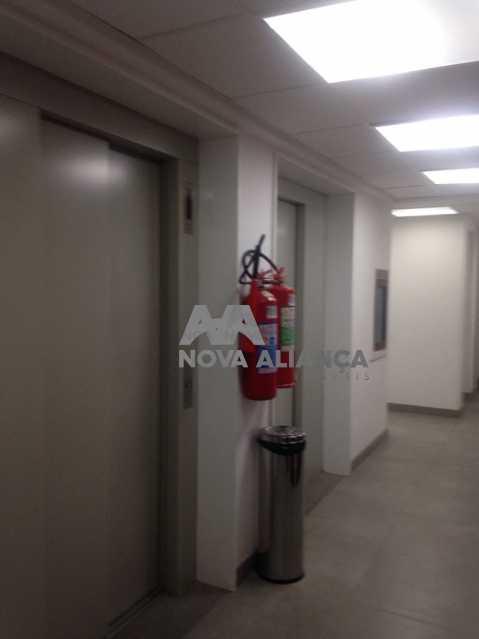 HALL ELEVADOR - Sala Comercial 43m² à venda Estrada da Gávea,Gávea, Rio de Janeiro - R$ 400.000 - NFSL00141 - 11