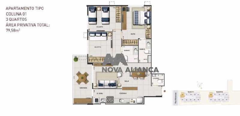 1 - Apartamento à venda Rua Ibituruna,Maracanã, Rio de Janeiro - R$ 911.000 - NTAP21266 - 1