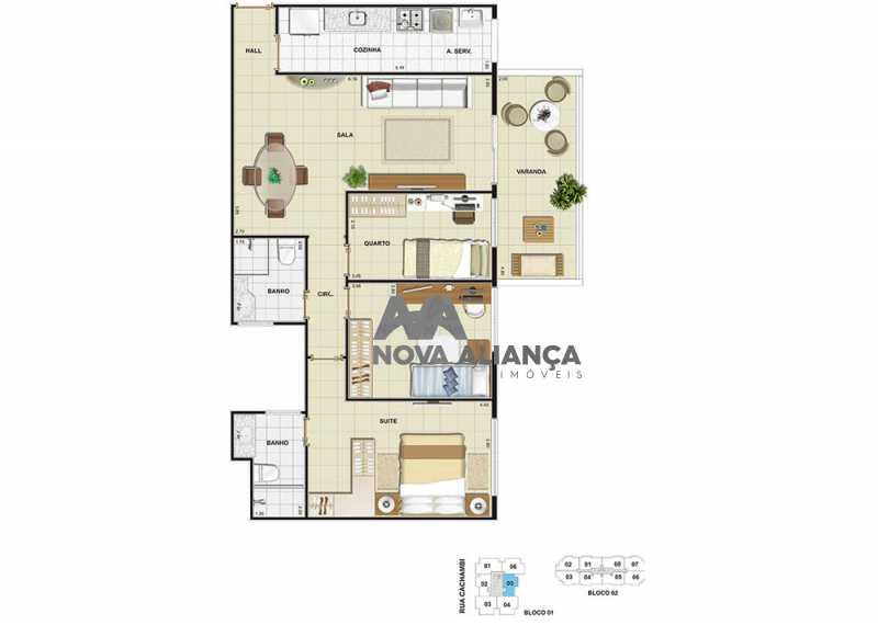 bl105 - Apartamento 3 quartos à venda Cachambi, Rio de Janeiro - R$ 684.000 - NTAP31060 - 31