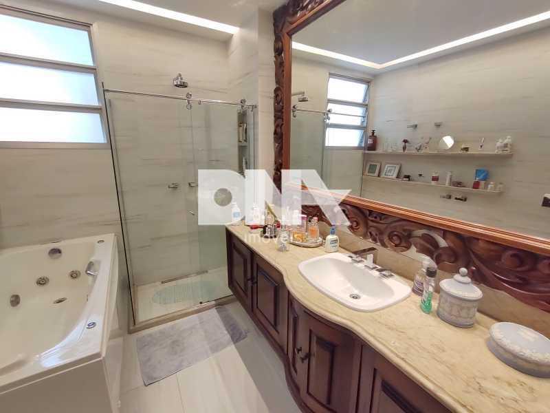 Banheiro social com Hidro - Cobertura 4 quartos à venda Tijuca, Rio de Janeiro - R$ 2.300.000 - NICO40158 - 19
