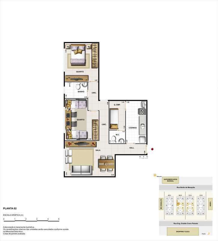 2q lateral - Apartamento Rua Barão de Mesquita,Tijuca,Rio de Janeiro,RJ À Venda,2 Quartos,63m² - LMAP20052 - 5