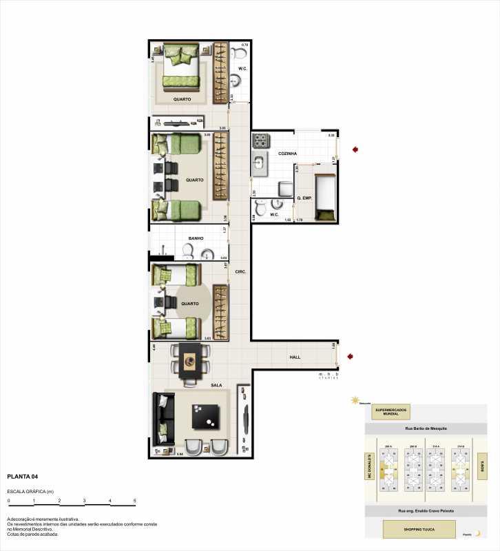 3q lateral - Apartamento à venda Rua Barão de Mesquita,Tijuca, Rio de Janeiro - R$ 566.573 - LMAP20051 - 7
