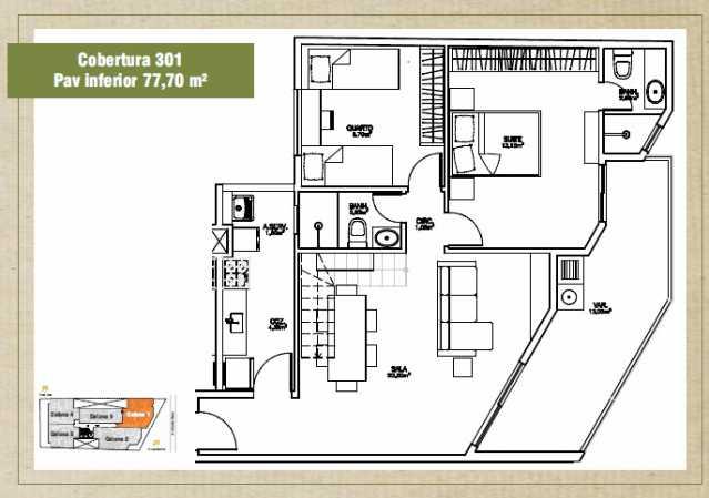 301 - Cobertura à venda Avenida Emile Roux,Taquara, Rio de Janeiro - R$ 616.726 - TACO30069 - 3