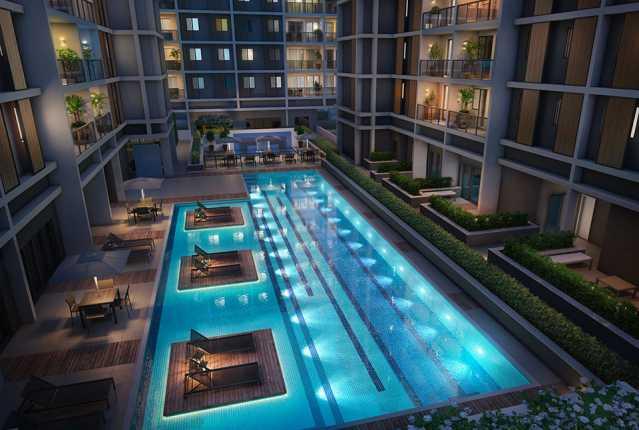 piscina_noturna - Apartamento à venda Estrada da Cachamorra,Campo Grande, Rio de Janeiro - R$ 358.360 - LMAP20033 - 15