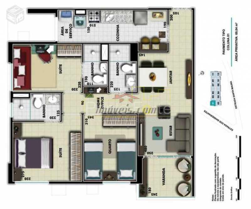 21 - Apartamento 3 quartos à venda Curicica, Rio de Janeiro - R$ 380.000 - PEAP30551 - 23