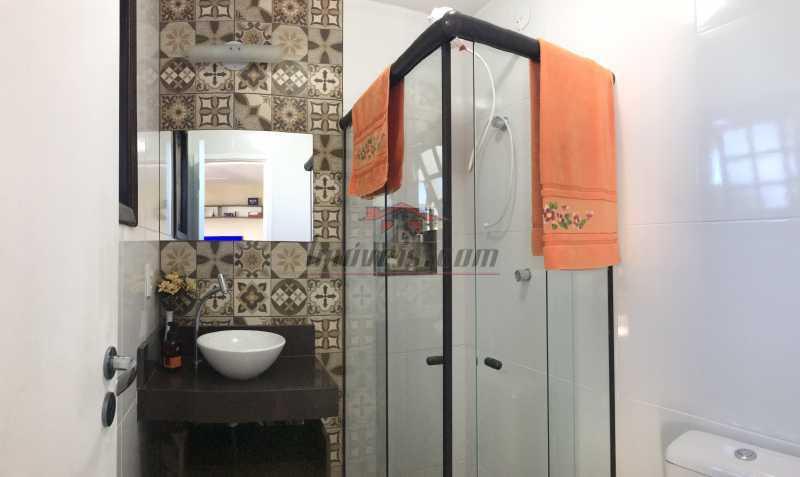 banheiro terraço. - Casa em Condomínio 2 quartos à venda Pechincha, Rio de Janeiro - R$ 625.000 - PECN20228 - 22