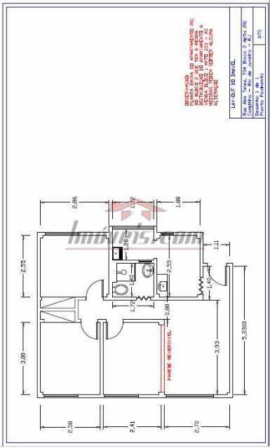 34 - Planta Baixa do imóvel - Apartamento 3 quartos - Campinho - PEAP30886 - 17
