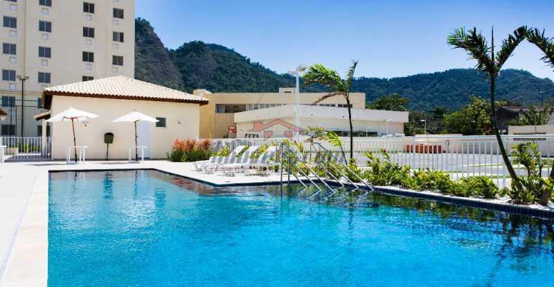Fachada piscina Wya - Apartamento à venda Estrada dos Bandeirantes,Curicica, BAIRROS DE ATUAÇÃO ,Rio de Janeiro - R$ 320.000 - PEAP30898 - 4