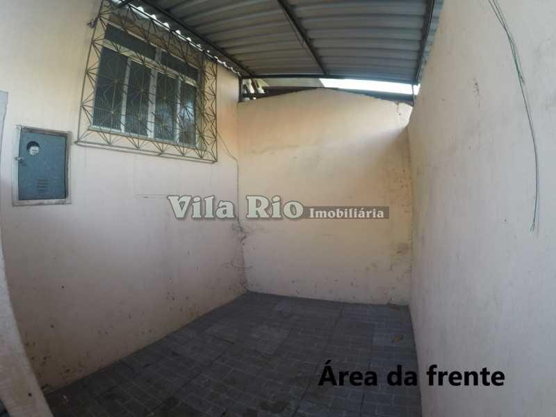 Area da frente - Casa 1 quarto para alugar Cordovil, Rio de Janeiro - R$ 700 - VCA10001 - 15