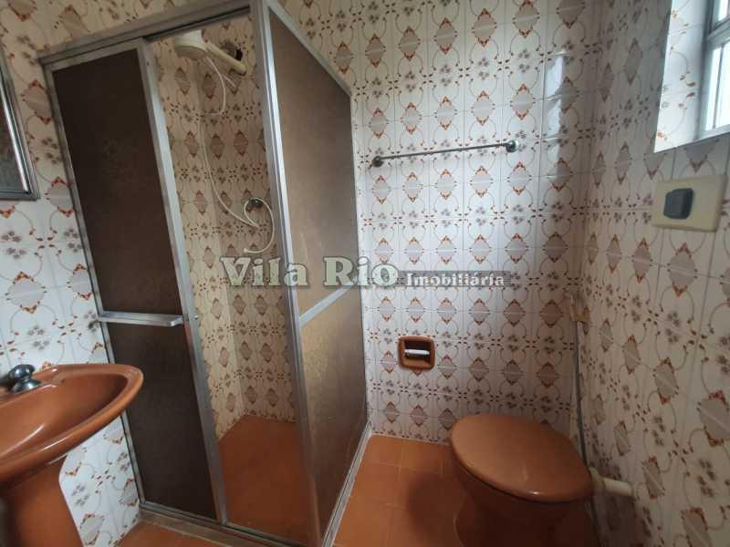 BANHEIRO. - Casa 1 quarto à venda Vila da Penha, Rio de Janeiro - R$ 160.000 - VCA10004 - 6
