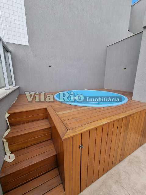 Piscina cobertura 1 - Cobertura 2 quartos à venda Vista Alegre, Rio de Janeiro - R$ 667.000 - VCO20006 - 25