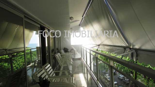 VARANDA - Apartamento à venda Rua General Artigas,Leblon, Rio de Janeiro - R$ 9.500.000 - FLAP40131 - 1