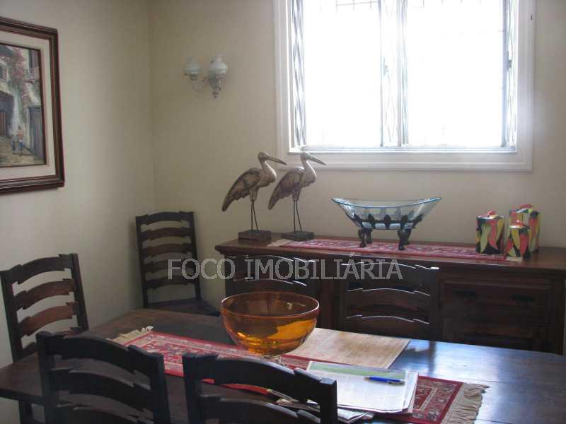 sala jantar - Casa à venda Rua Eurico Cruz,Jardim Botânico, Rio de Janeiro - R$ 4.700.000 - FLCA40045 - 10