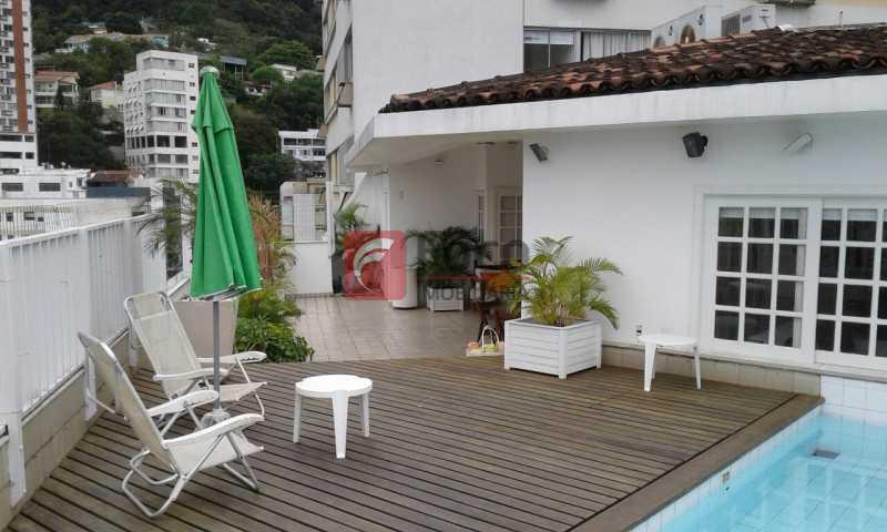 TERRAÇO - Próximo a Lagoa - Linda Cobertura com Vista para a Lagoa - 04 quartos (2suítes) - 02 Vagas na Escritura - JBCO40058 - 5