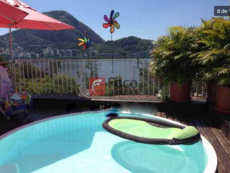 piscina - Jardim Botânico - Cobertura com Linda Vista para a Lagoa - Original 04 Quartos - piscina - 02 Vagas - JBCO30109 - 16