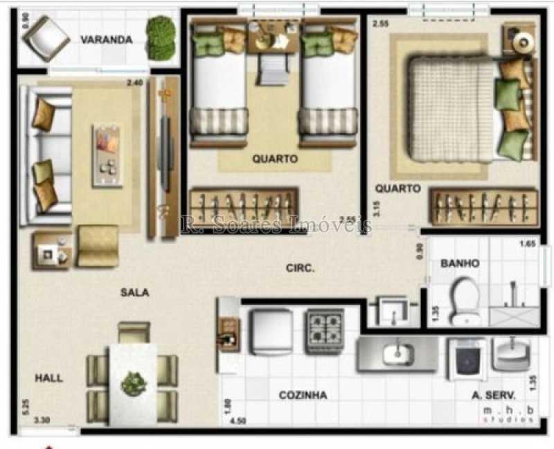 apartamento-planta-vert-vita-b - Apartamento 2 quartos à venda Rio de Janeiro,RJ - R$ 225.000 - VVAP20361 - 9