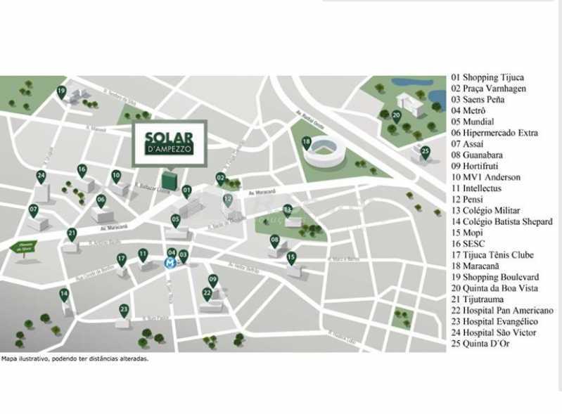 localizacao-solar-d-ampezzo-ti - Lançamento de Apartamento Garden na Tijuca - BTAA30001 - 10