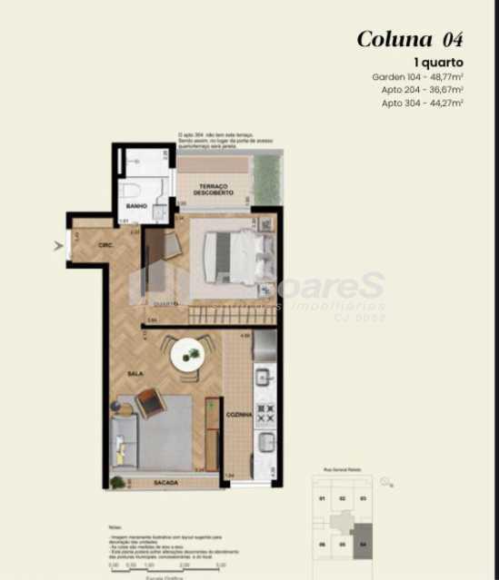 3d97994c-e146-4f3b-af74-3d2726 - Apartamento 1 quarto à venda Rio de Janeiro,RJ - R$ 912.653 - BTAP10010 - 1
