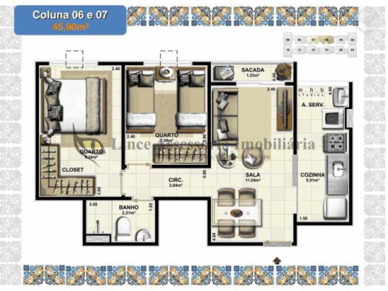 foto 2 - Apartamento 2 quartos à venda Vasco da Gama, Rio de Janeiro - R$ 259.000 - TAAP22208 - 15