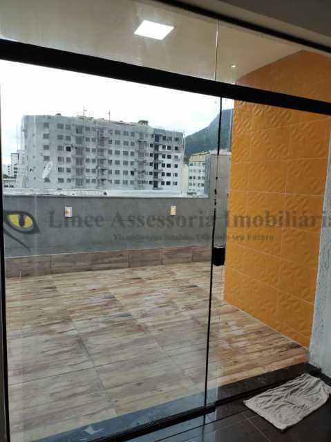 sala e area externa - Cobertura 2 quartos à venda Tijuca, Norte,Rio de Janeiro - R$ 320.000 - TACO20097 - 19