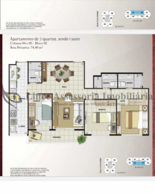 27-planta - Apartamento 3 quartos à venda Cachambi, Norte,Rio de Janeiro - R$ 750.000 - TAAP31509 - 28