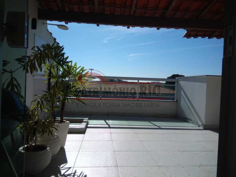 1 - Excelente Casa Triplex ( Condomínio fechado) em Rocha Miranda, com varanda, 2quartos, vaga e terraço - PACN20127 - 1