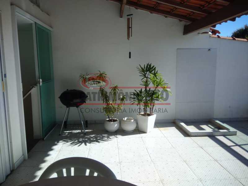 18 - Excelente Casa Triplex ( Condomínio fechado) em Rocha Miranda, com varanda, 2quartos, vaga e terraço - PACN20127 - 19
