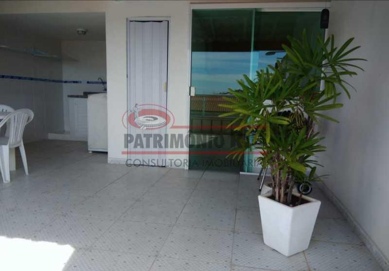 19 - Excelente Casa Triplex ( Condomínio fechado) em Rocha Miranda, com varanda, 2quartos, vaga e terraço - PACN20127 - 20