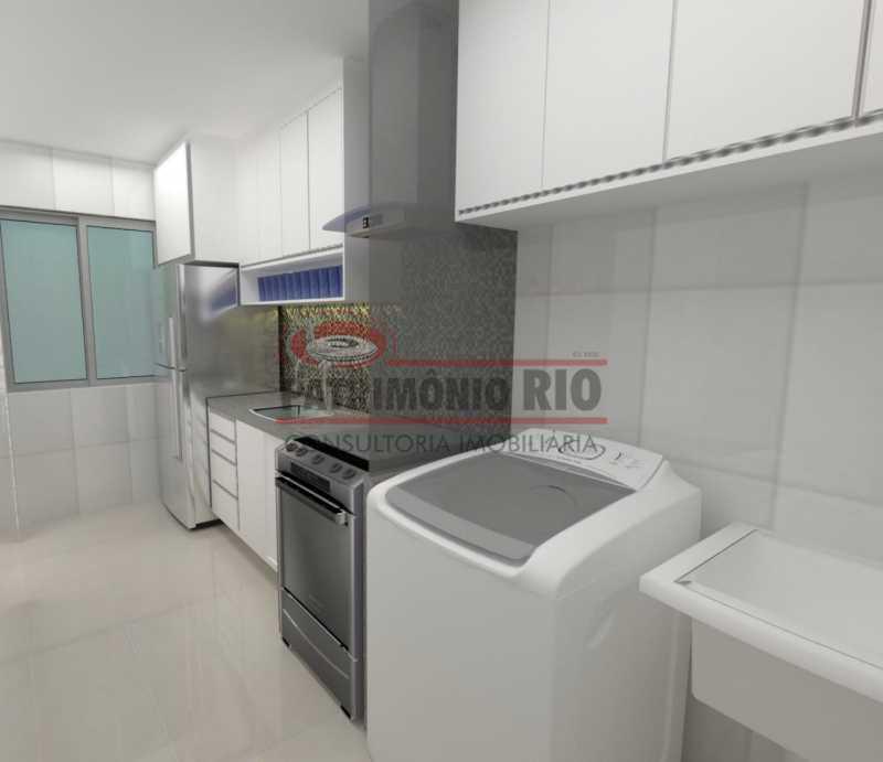 3 - cozinha. - 2Quartos, suíte, varanda e vaga - PAAP24183 - 10