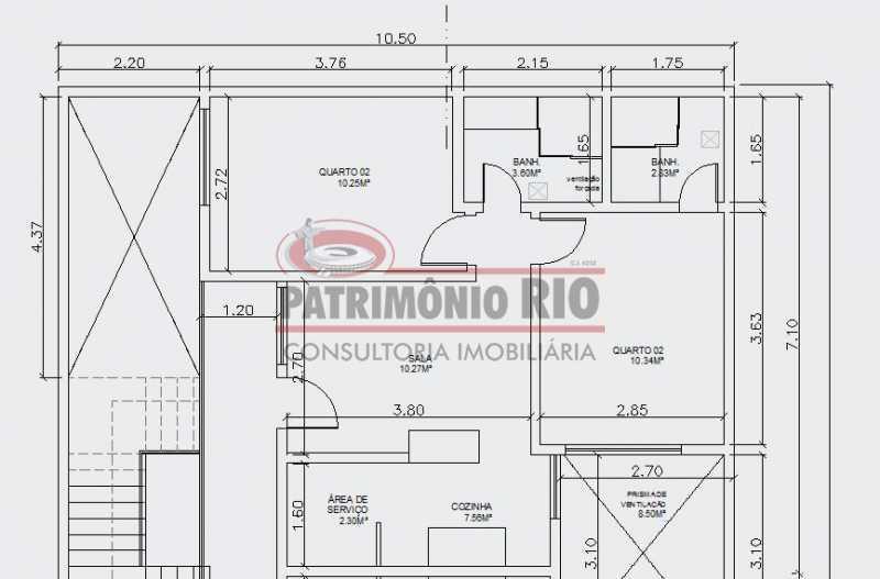 6 - planta baixa. - 2Quartos, suíte, varanda e vaga - PAAP24183 - 12