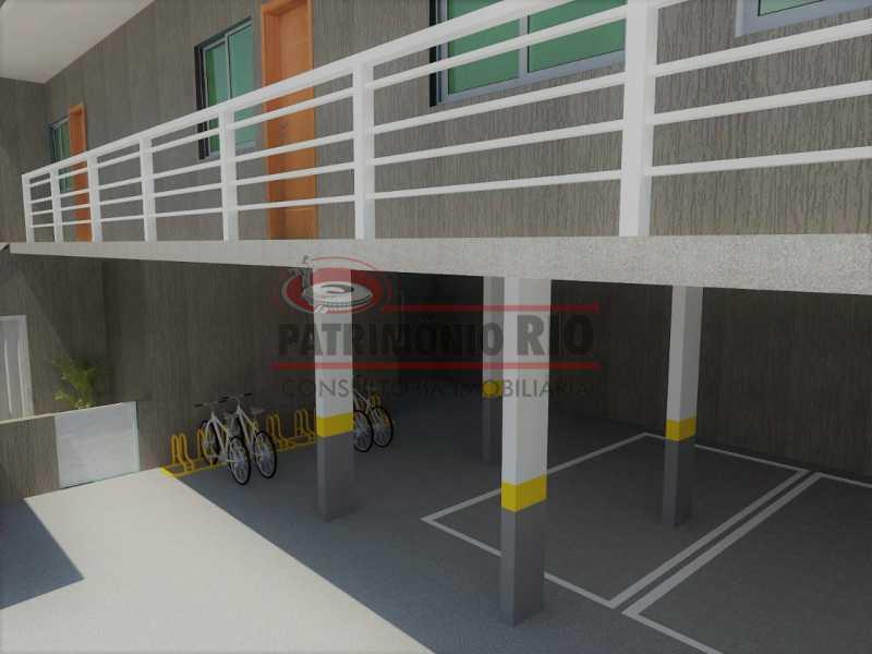 5 - fachada. - 2Quartos, suíte, varanda e vaga - PAAP24183 - 22