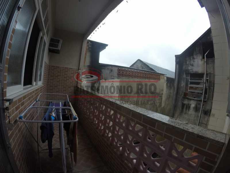 9 - varanda do quarto do casal - Casa Duplex de Vila juntinho do Metro - PACV20114 - 24