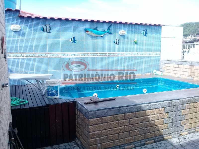 16 - Boa casa triplex em Condomínio fechado com 3qtos, piscina, churrasqueira e duas vagas próximo Largo do Bicão - PACN30043 - 17