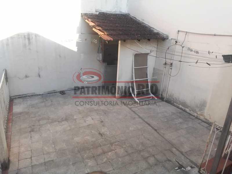 Terraço da sala gourmet - Casa 3 quartos à venda Engenho Novo, Rio de Janeiro - R$ 300.000 - PACA30424 - 21