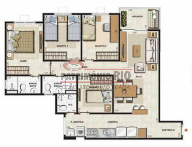 16 2 - Apartamernto 4qtos, suíte - 2 vagas - Condomínio Flores Bosque Residencial. - PAAP40031 - 17